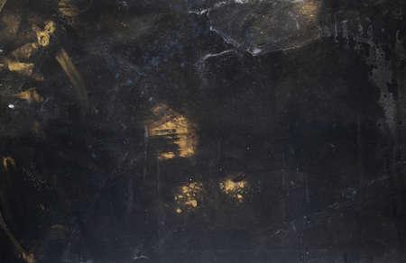 Staub abstrakten Hintergrund. Rost Korrosion. Schwarze beunruhigte Oberfläche.