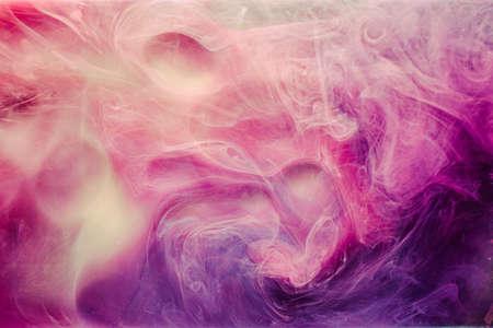 Mist flow background. Enchanted energy. White purple steam.