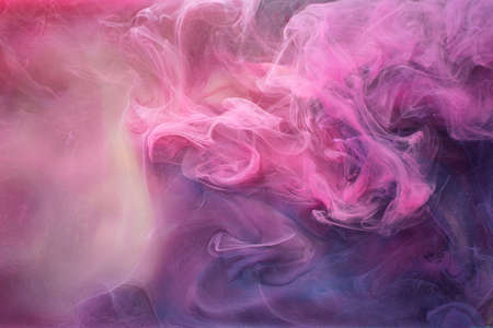 Mist cloud background. Mysterious aura. Purple abstract fume.