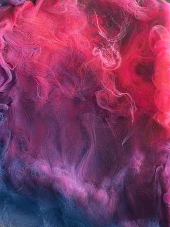 Steam background. Mysterious smoke. Magenta purple fog.