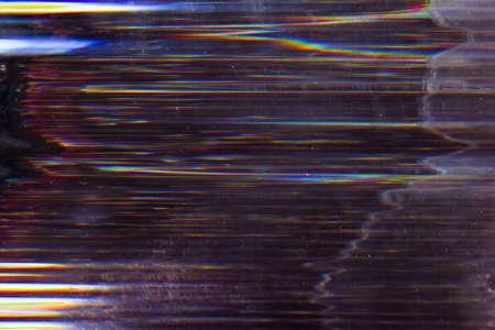 Screen damage. System breakdown. Dark striped pattern noise.