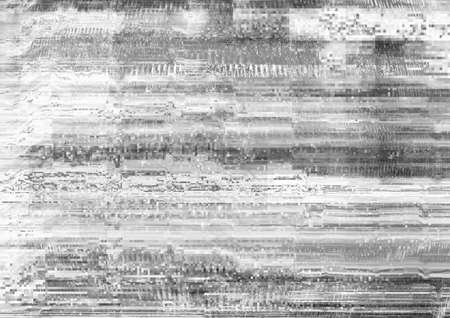 Distorted display. Transmission error. White static noise pattern layer.