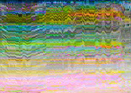 Screen glitch. Signal error. Multicolor static noise pattern overlay.