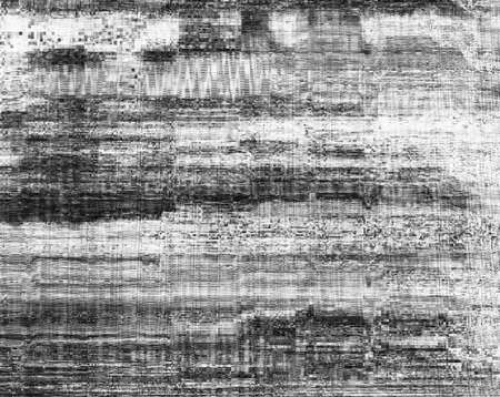 Screen damage. Signal error. Black white pixel static noise. 版權商用圖片 - 131973646