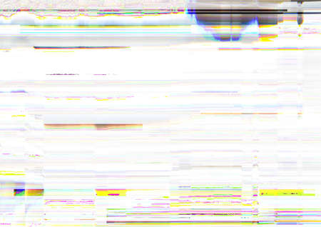 Glitch error. Video damage. Pixel static noise on white background. 免版税图像