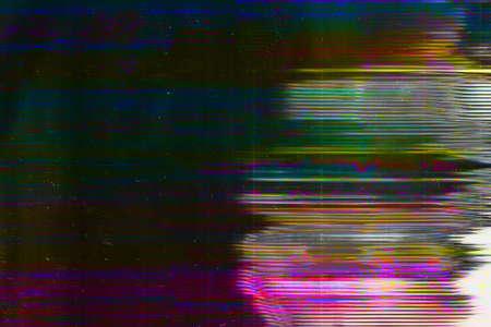 Distorted display. Digital breakdown. Dark stripes pattern overlay.