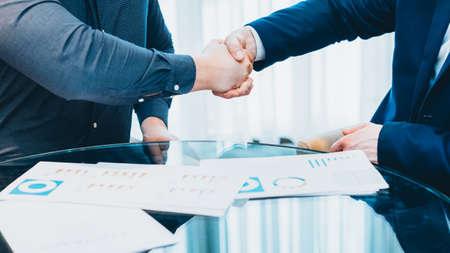 Professional partnership. Closeup of hand shake. Cropped shot of business men closing deal.