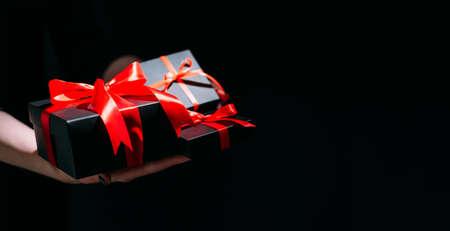 black week banner festive gifts sale discount Banque d'images