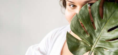 sensual care plus size beauty natural treatment Banque d'images