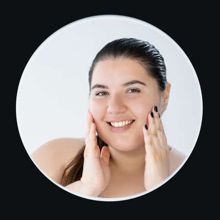 plus size beauty smooth skin careful treatment Banque d'images