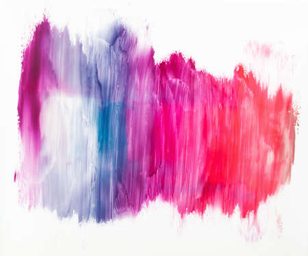 Colorful nail polish smashes on white background. Shades of red and purple varnish. Cosmetic, beauty, makeup concept Stock Photo