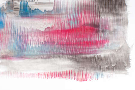 smudge: Modern abstract painting, creative art. Black, blue and red gradient, smudge blurred colors on white background. Stock Photo