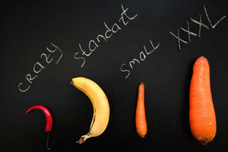 Fruit Vegetable Phallus Shape Banana Carrot Pepper Penis Size Crazy Standard Small XXXL Concept