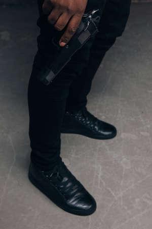 Schwarze Ghetto-Boot Bilder