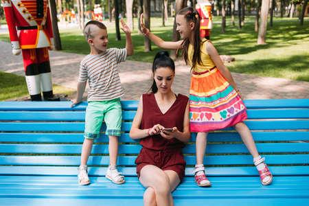 Childs arrangement behind mothers back. Secret treaty. Family lifestyle. Reckless babysitter