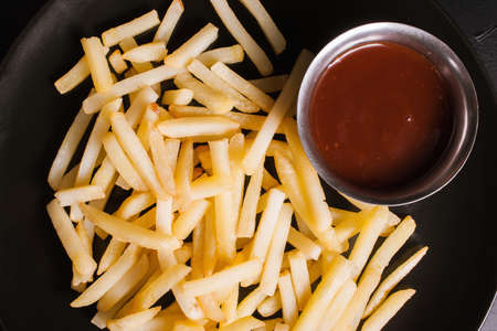 food photography art. french fries junk food concept