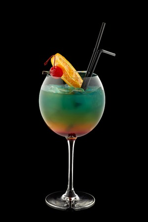 alcoholic cocktail rainbow Stock Photo