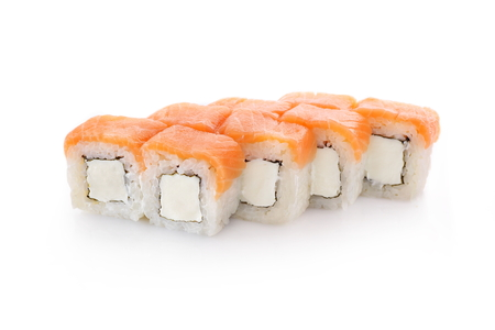 Sushi Philadelphia on a white background