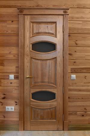 wooden interior doors of high quality, interior design Stok Fotoğraf
