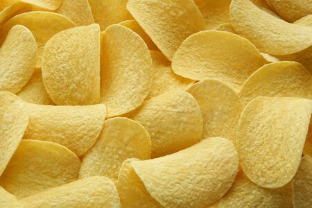 background of beautiful large chips closeup golden delicious
