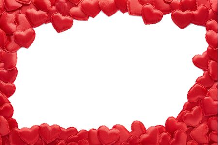 Valentines Day hearts on a white background. Place for text