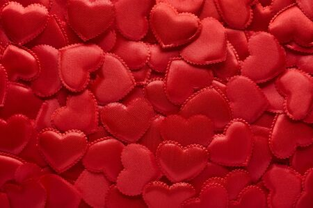 background of red hearts Valentines Day The 14th of February.