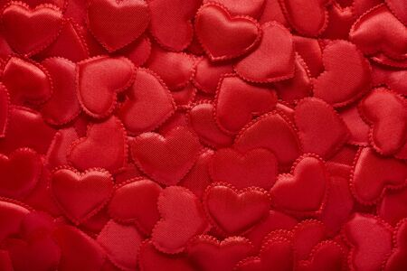background of red hearts Valentines Day The 14th of February