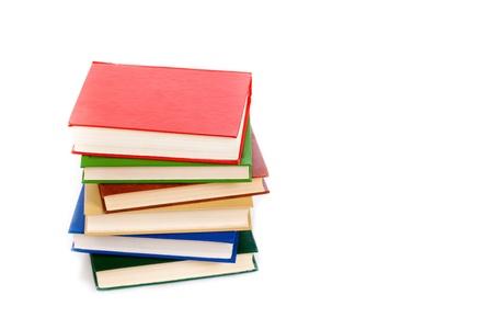 bales: books isolated on white Stock Photo