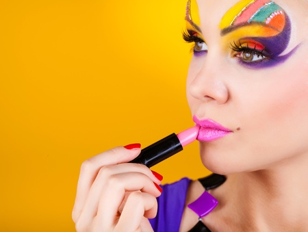 Close-up portrait of sexy woman with make-up Stock Photo - 12531678