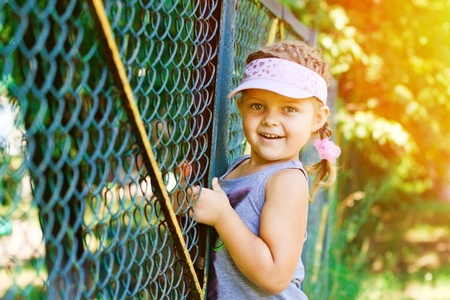 Beautiful Happy Little Girl outdoor Stock Photo - 12531522