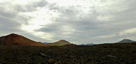 obrero: Volcanic landscape in Lanzarote, the Canary islands Foto de archivo