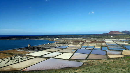 evaporacion: Salt evaporation in Lanzarote, the Canary islands