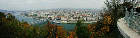 view: View from Gellrt hill in Budapest