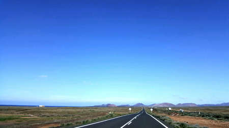 lonelyness: Road to nowhere in the Canary islands