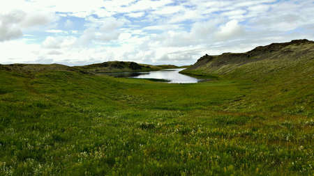 view: Landscape in Iceland Stock Photo