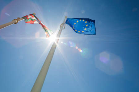 european flag: European flag Stock Photo