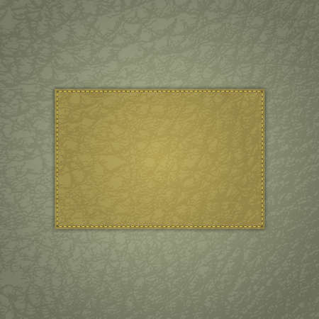 leather texture: Realistic green leather texture with place for text