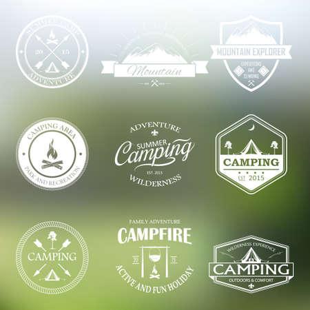 Set of vector retro badges and emblems.