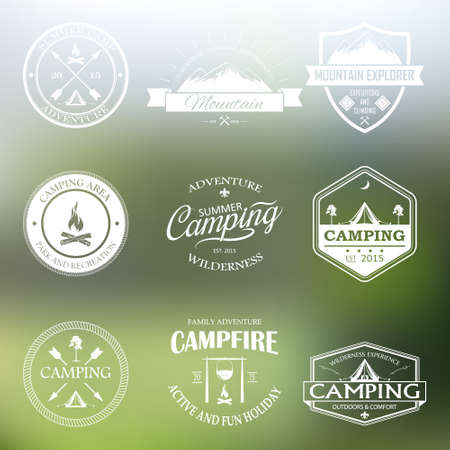 Set of vector retro badges and emblems. Vector