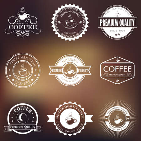 business banner: Set of vector vintage retro coffee