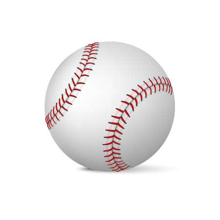 Realistic baseball on white background. Vector EPS10 illustration. Vector