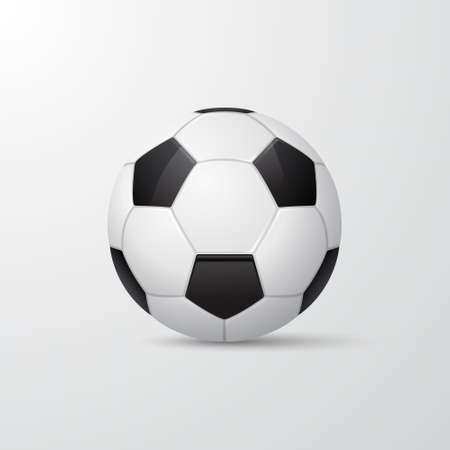 ball game: Traditional style 3d soccer ball. Vector  illustration.