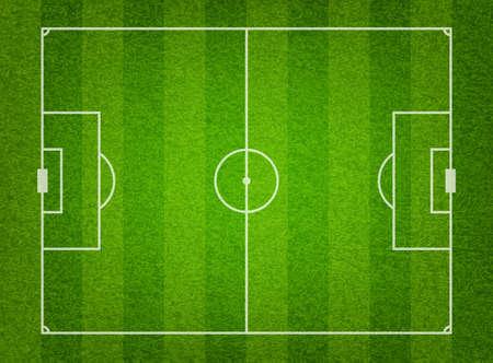 feld: Grünes Gras-Fußballplatz Hintergrund. Illustration