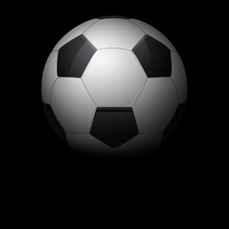 soccerball: Soccer ball dark background.