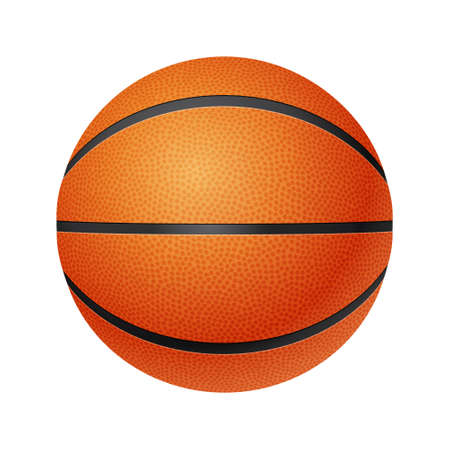 threedimensional: Three-dimensional basketball, front  view, isolated on white background.