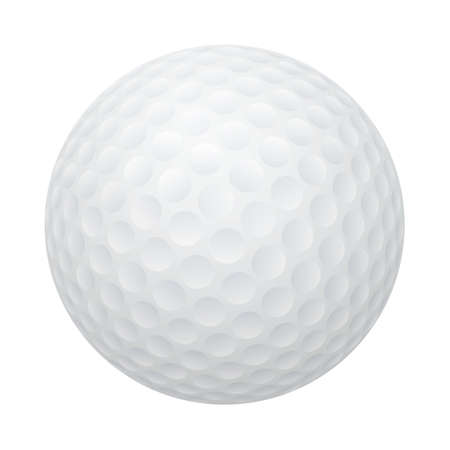 threedimensional: Three-dimensional golf ball isolated on white background.  Illustration