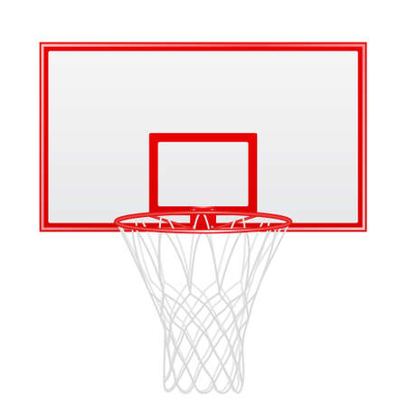 backboard: Red basketball backboard isolated on white background. Vector EPS10 illustration.