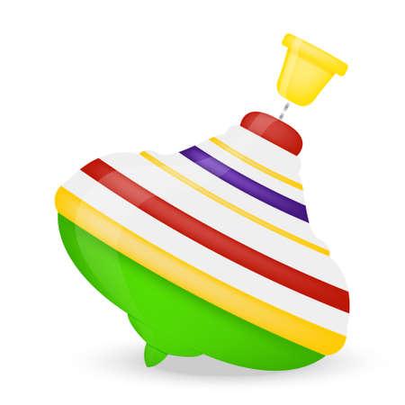 pinwheel toy: Baby toys whirligig isolated on white background. Vector EPS10 illustration
