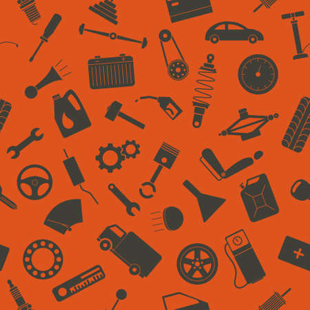 eps8: Seamless background with spare parts. Vector EPS8 illustration.