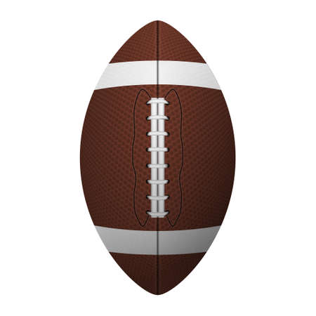 3d  ball: American football, ragby ball. Isolated on white background. Vector EPS10 illustration.